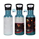 Toys & Games Add cold water to watch the bottle change colour, It's MAGIC! 600 ml Capacity Durable Stainless Steel BPA Free