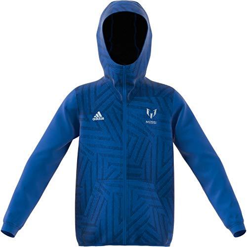 adidas Jungen Full Zip Kapuzen-Jacke, Blue, 110