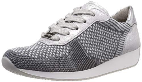 Ara Damen LISSABON Sneaker, (Grau-Hellgrau, Silber 10), 41 EU
