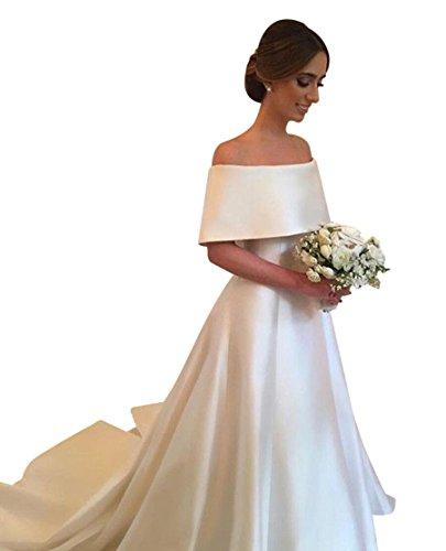 Top 10 Best Off the Shoulder Satin Wedding Dress Comparison