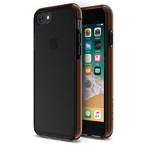 Maxboost iPhone 8 Case/iPhone 7 Case, HyperPro Heavy Duty Cover w/ [GXD Gel Drop Protection] for Apple iPhone 8, iPhone 7,6s 6 2017 Reinforced TPU Cushion Bumper/Hard PC Back -Translucent Jet Black