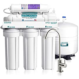 Apec water systems roes-ph75 essence series top tier alkaline mineral ph+ 75 gpd 6-stage certified ultra safe reverse osmosis drinking water filter system 1 supreme quality - designed, engineered and assembled in usa to guarantee water safety & your health. This 75 gpd 6-stage system roes-ph75 is guaranteed to remove up to 99% of contaminants such as chlorine, taste, odor, vocs, as well as toxic fluoride, arsenic, lead, nitrates, heavy metals and 1000+ contaminants. Max total dissolved solids - 2000 ppm. Feed water pressure 40-85 psi us made cartridge uses food-grade calcium from trusted source for safe, proven water ph enhancement. Enjoy ultra-pure drinking water with added calcium minerals for improved alkalinity and great taste.