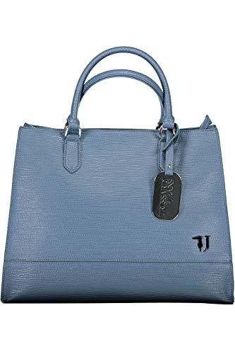 Trussardi Jeans BORSA A MANO/TRACOLLA T-EASY CITY TOTE LG ECOPELLE SAFFIANO NAVY BLUE DONNA BS19TJ30