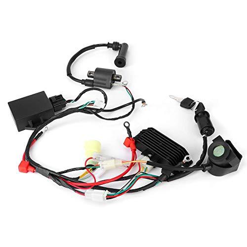 Kabelboom Assy, Motorfiets CDI Kabelboom Sleutel Bobine Gelijkrichter Assy Past voor 200CC 250CC NC250