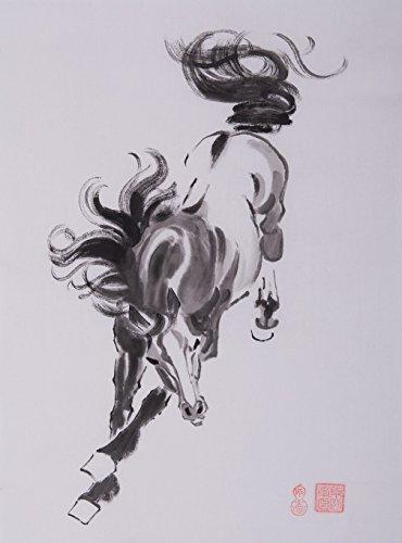 jiangnanruyi arte caballo pintado a mano obras de arte sin marco chino Cepillo de tinta y lavado acuarela dibujo imagen decoración decoración para oficina para salón o dormitorio