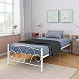 Anaelle Pandamoto Lit Simple Adult en Méal 1 Place Design Comfort 81 x 95 x 197cm Blanc