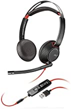 Plantronics - Blackwire C5220 - Wired, Dual-Ear (Stereo) Headset with Boom Mic - USB-A, 3.5 mm to connect to your PC, Mac, Tablet and/or Cell Phone