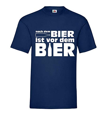 Na het bier is voor het bier mannen T-shirt - shirt84.de