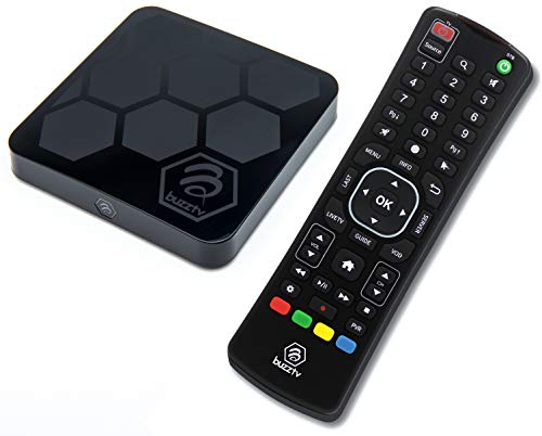 BuzzTV XRS4000 with ARQ100 Remote Bundle - Android 9.0 IPTV Set-Top Box - Faster Than Ever Before - 4K Ultra HD - 4GB RAM 32GB Storage - Latest Graphics Processor - Dual Band WIFI