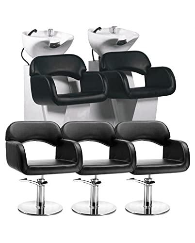 2 Lavatesta Parrucchiere e Barbiere Professionale con Distanziatore e 3 Poltrone Offerta Sage