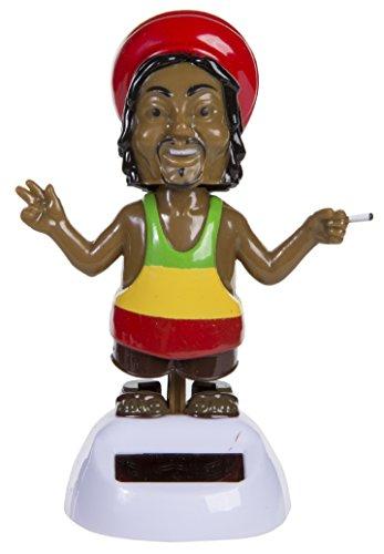 Bada Bing Solar Wackel Figur Rastafari Rastaman Reggae Peace