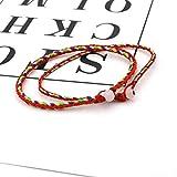 Fnito Le Bracelet 2 Pcs/lot Chanceux Couple Amoureux Bracelet Fait Main Corde D'amitié Corde Rouge Fil Bracelet pour Hommes Femmes Bijoux Cadeau Cadeau