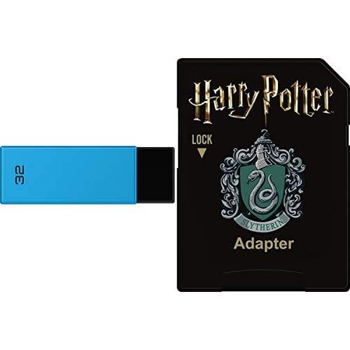 Pack Support de Stockage Rapide et Performant : Clé USB - 2.0 - Séries Runners - 32 Go + Carte MicroSD - Collection Harry Potter - Slytherin - 32 Go