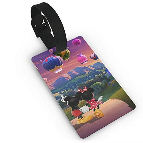 Mickey Mouse Pareja Relojes Globo Caliente Etiquetas de Equipaje Maleta de Mano Etiqueta de Equipaje de Identificación de Viaje