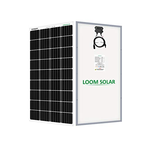 LOOM SOLAR 190 watt, 12 Volt Mono PERC Solar Panel (Pack 2) with Panel Stand