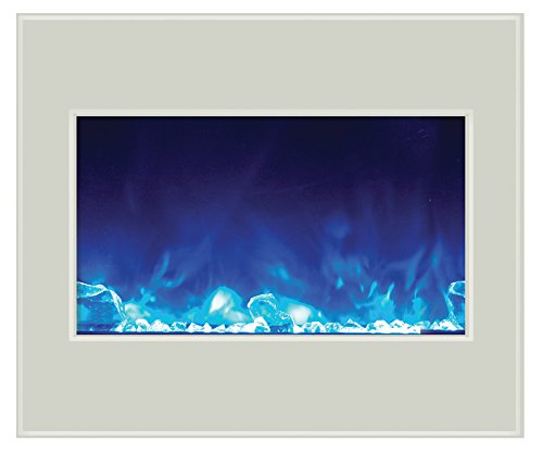 Amantii ZECL-30-3226-WHTGLS Electric Fireplace