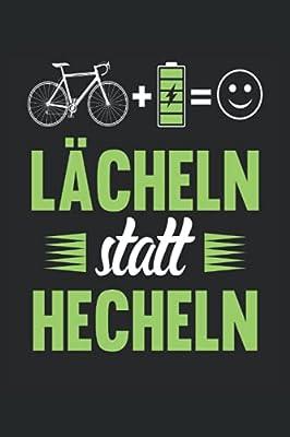 Lächeln statt Hecheln Fahrrad Notizbuch (liniert) Fahrradfahrer E-Bike