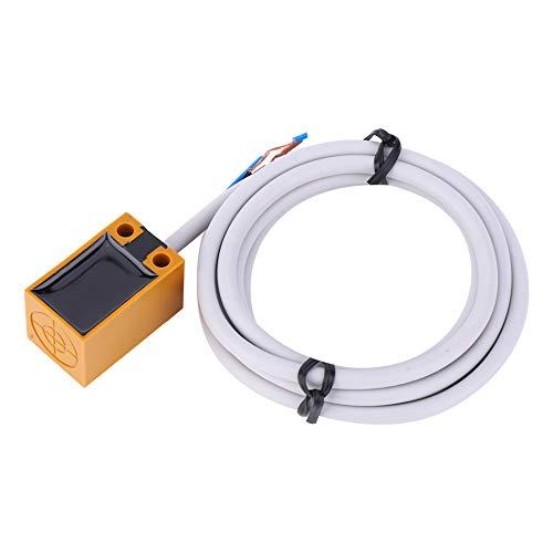 Interruptor de proximidad inductiva blanca clara, hecha de plástico NPN Three-Hirty Normalmente abierto 1.05M Sensor de proximidad inductiva para detección de 5 mm Sensor de metal DC 6-36V