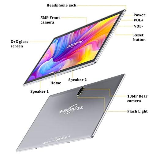 FEONAL Tablet 10 Pulgadas Android 10 4G LTE +WiFi, 4GB RAM+64GB ROM (TF 128GB), Octa-Core, Batería 6000mAh, Tableta con… 2