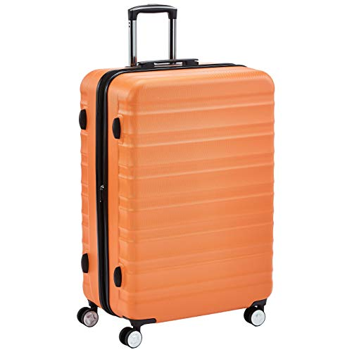 Amazon Basics Premium Hardside Spinner Suitcase Luggage with Wheels - 28-Inch, Orange