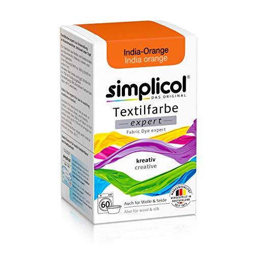 Simplicol Expert Fabric Dye Tinte de Coloración para Textiles: Lavado a Mano o Lavadora - Tiñe y Restaura Sus Telas y Ropa - Naranja