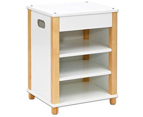 Betzold 56358 – Küchen-Block-Regal für Kindergarten-Modulküche - Modul für Spielküche aus Holz