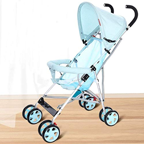 Fantastic Deal! LLYU Pushchairs-Baby Carriage Portable Folding Shock-Absorbing Mini Umbrella Four Se...