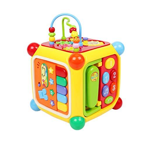 GAOQUN-Baby Toy Activité Bébé Cube Polyvalent Play Centre Musical Early Shape Sorter éducation Perles Jouets Jeu for 1-3 Ans Nourrissons Tout-Petits (Color : Multi-Colored, Size : 18 * 18 * 27CM)