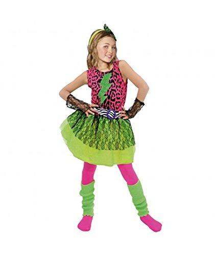 Disfraz Estrella del Pop 80's niña Infantil para Carnaval (
