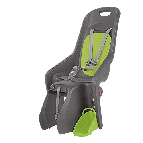 Author Fahrrad Kindersitz Bubbly Maxi CFS X8 grau grün Montage am Gepäckträger