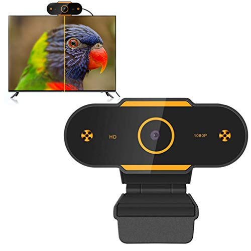 RXLLSY Cámara Web 1080P con micrófono Cámara Web HD, cámara Web USB para computadora Cámara de Video para transmisión de Videojuegos, conferencias, Mac, Windows, PC, computadora portátil