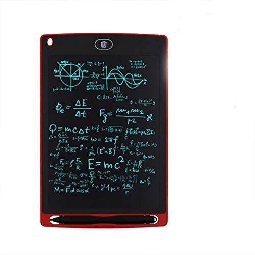 Tablero de Dibujo para niños Digital con Pantalla LCD eléctrica de 8.5 Pulgadas, Rojo, 8.5 Pulgadas