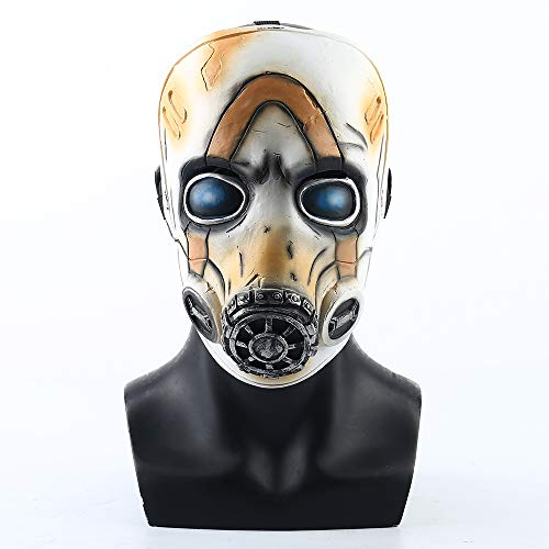 insp YK Borderlands 3 Psycho Mask Cosplay Game Props Villain Funny Mask Adult Mask Halloween Dress Up (Not Shining)