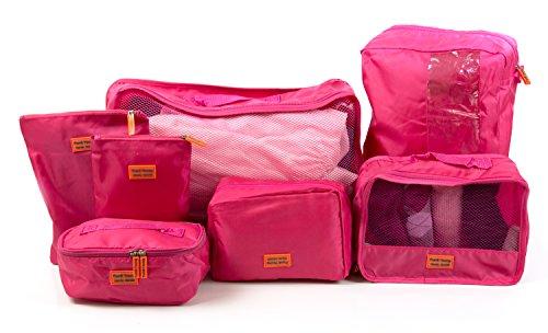 HAUPTSTADTKOFFER - Reisekoffer-Organizer Koffer-Organizer Kleidertasche Packtasche 7-teiliges Set Pink