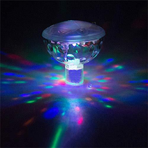 Harddo LED Badelicht Schwimmende Poolbeleuchtung Wasserdichtes Wannenlicht Pool Disco Licht Schwimmende Lampe mit 5 Mustermodi für Bäder, Teiche, Pools Party