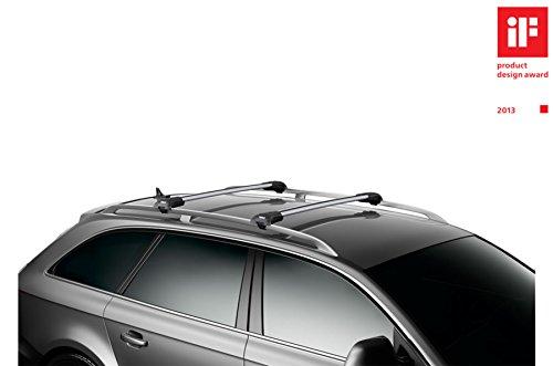 Thule WingBar Edge 90401229 Komplett System inkl. Schloss für VOLKSWAGEN Golf Variant/Sportcombi (VII) – Der leise und sichere Lastenträger