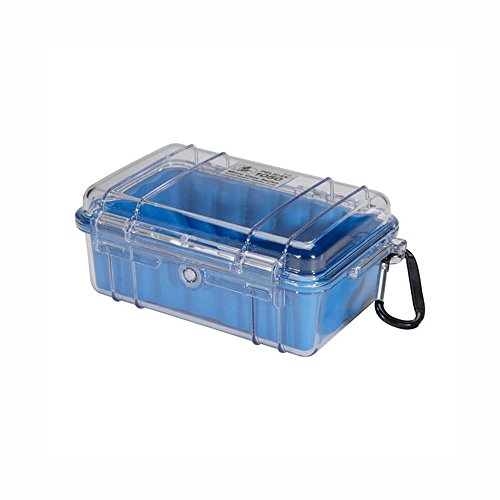 Pelican 1050 Micro Case - for iPhone, GoPro, Camera, and more (Blue/Clear)