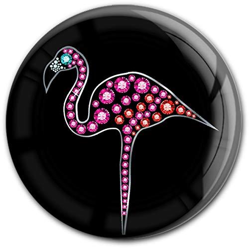 metALUm runder Acrylmagnet mit starkem Neodym - Magnet Flamingo #1301111
