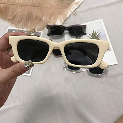 1 unids Nuevas Mujeres rectángulo Vintage Gafas de Sol de la Marca diseñador de Marca de Puntos Retro Gafas de Sol Dama Gafas Gafas Gafas de Ojo de Ojo (Color Name : D)