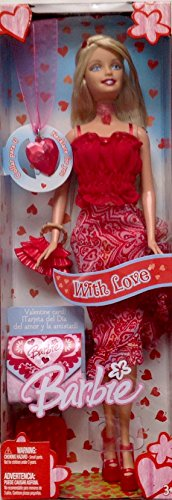 Barbie Valentines Day Doll Red Hearts With Love