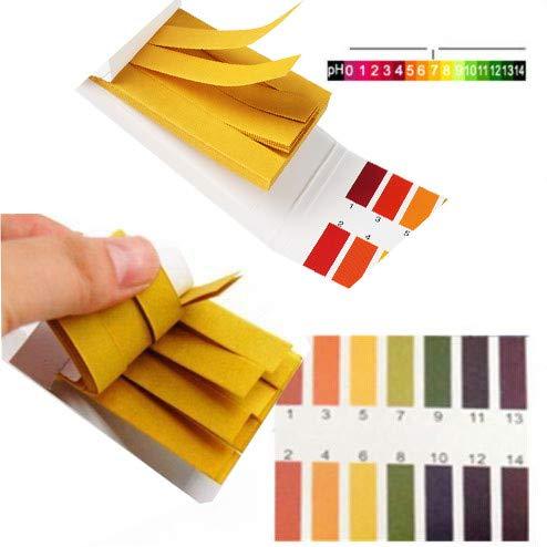 Hukz 80 Stück PH Teststreifen, Universal 1-14 PH Indicator Lackmus Paper PH Test Strips Testpapier Indikatorpapier Lackmuspapier, Ideal für die Prüfung vieler alltäglicher Substanzen