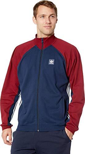 adidas Skateboarding Full Zip Rugby Collegiate Navy/Collegiate Burgundy/White XL