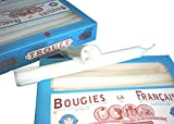 Bougies La Francaise Box of 20 Traditional Trouees Dripless Candles by Bougies La Fran?aise