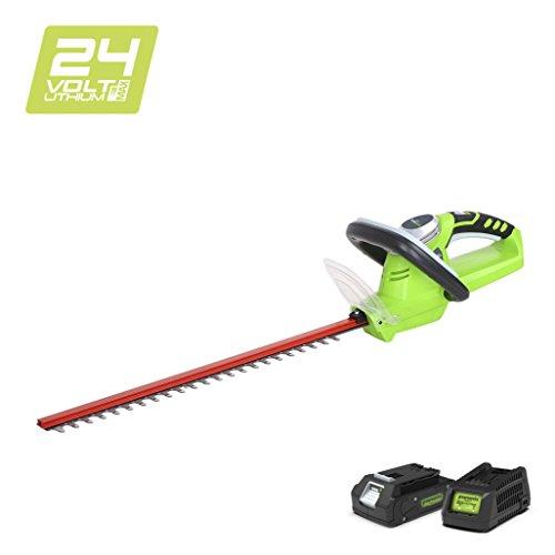 Greenworks Tools 2200007VA Accu-heggenschaar 24 V Li-Ion met 2 Ah accu en oplader