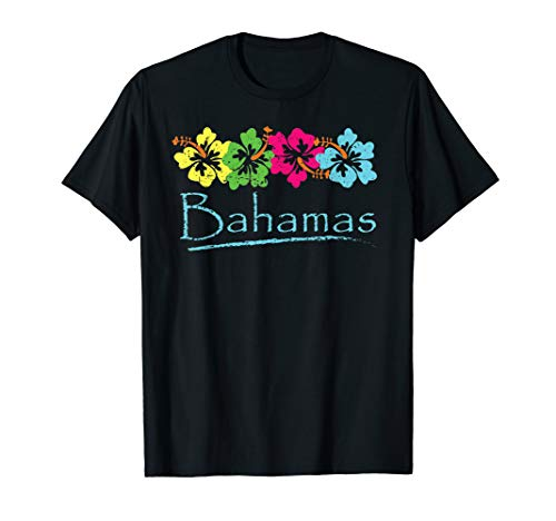 Bahamas Exotic Tropical Beach And Vacation Vintage Print T-Shirt