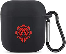 Apex Battle Legends Logo(20 Silicone Airpod Black Protective case with Keychain, Specially Designed for AirPods 2 and 1 Silicone case