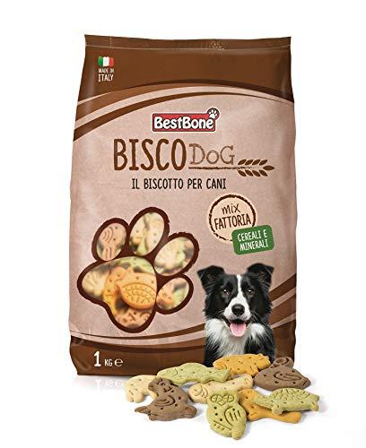 Bestbone Biscodog Mix Fattoria Biscotti Gustosi e Croccanti per Cani Vitamine e Minerali Confezione da 1 Kg - 1 kg