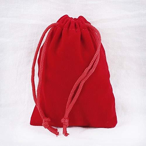 SUDHG 10 unids/Lote 5x7cm 7x9cm 9x12cm 10x15cm Bolsas de Terciopelo con cordón Bolsa de Embalaje de joyería Decoración de Boda Bolsas de Regalo y Bolsas de Regalo