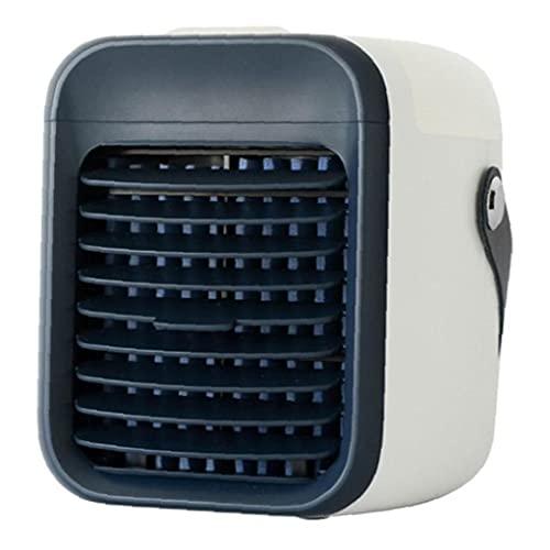 Enfriador de Aire inalámbrico acondicionador de Aire portátil 2000mAh Mini Ventilador del refrigerador con Carga USB para el hogar Cuarto de Deporte al Aire Libre Negro