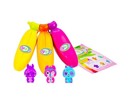 Bananas Collectible Toy 3-Pack Bunch (Orange, Pink, Yellow - Series 1) by Cepia (Styles May Vary)